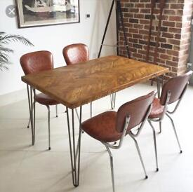 URGENT SALE - Beautiful chevron wood dining or kitchen table