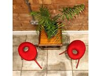 Two very rare Red Stools 'Eskilstuna' by Findlay, Graeme, McElroy and Carmen from 1999
