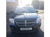 DODGE CALIBER CRD SXT 59 PLATE 2.0L FULL BLACK LEATHER WITH TINTED WINDOWS GREAT LOOKER