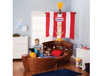 little tikes pirate ship bed for kids toddlers