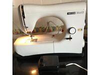 SEWING MACHINE NECCHI LYDIA3 ELECTRIC MODEL 544 WITH ORIGINAL RECITE &ALL PAPER WORK