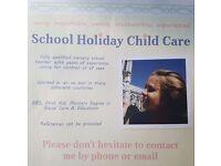 Summer Holiday Child Care/ Babysitting/ Nanny