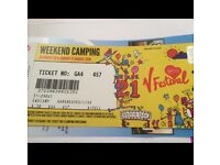 V festival weekend camping ticket ((Justin bieber and Rihanna)
