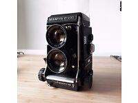Mamiya C330f Professional Medium Format Film Camera + 2 Lenses + 120 Film