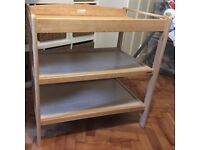 John Lewis Baby Changing Table- Wooden with Shelves