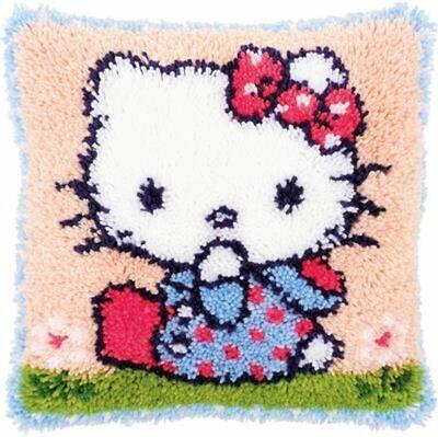 "Vervaco Knüpfkissenpackung "" Hello Kitty auf Gras ""  PN-0156421"