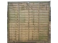 Several used 6 ft fence panels