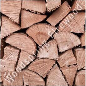 Seasoned Hardwood Firewood Logs 1m3 🔥