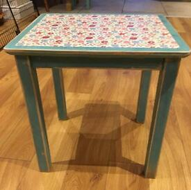 Shabby Chic Upcycled table floral decoupage ANNIE SLOAN