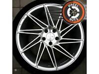 """19"""" BRAND NEW Veeman V-FS26 alloys 5x112 BRAND NEW tyres."""
