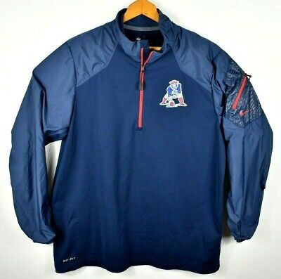 New England Patriots Nike NFL On Field Dri-Fit 1/2 Pullover Mens Large Retro