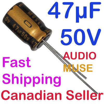47uf 50v 10x16mm Nichicon Kz Muse Audio For Amplifier Stereo Hi-fi Radio