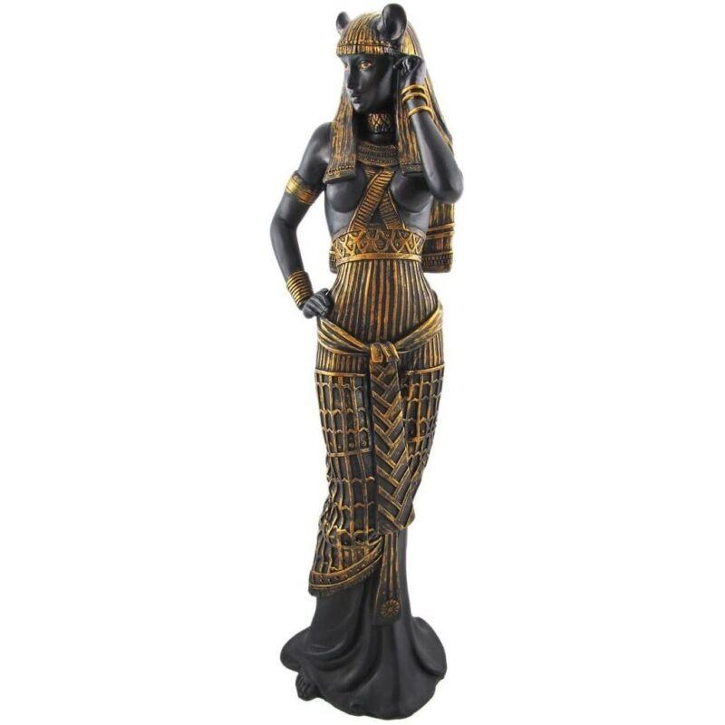 Bastet Black and Gold Egyptian Goddess Figurine
