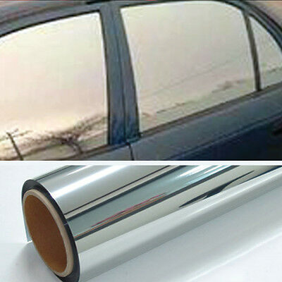 (Chrome 20% Light Mirror Window Tint Film One Roll 10 Ft x 24 In Wide Lets In NEW)