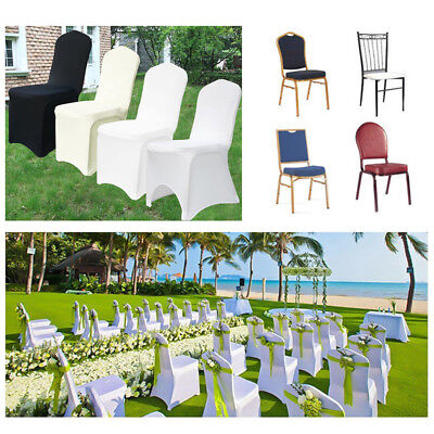 100Pc Universal Chair Covers Polyester Spandex Banquet Wedding Party Baby Shower - Bridal Shower Chair