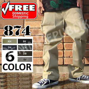 DICKIES-874-WORK-PANTS-BLACK-NAVY-KHAKI-CHARCOAL-GRAY-BROWN-SILVER-NWT-NEW