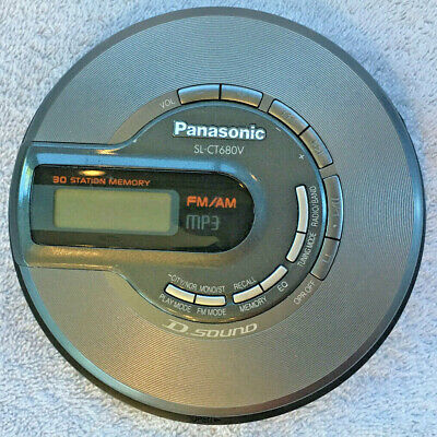 Panasonic FM/AM MP3 Personal CD Player SL-CT680V - Tested for sale  Shipping to India