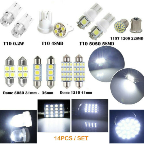 Car Parts - Error Free LED SMD Bulbs Kit Spare Parts for Car Interior Dome Map Door Light