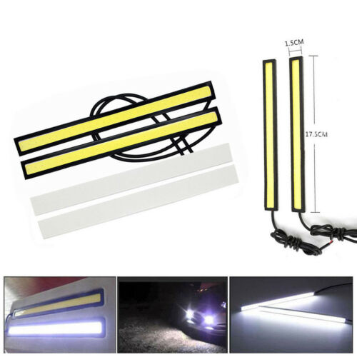 Car Parts - 6x 12V LED STRIP DRL DAYTIME RUNNING LIGHTS FOG COB CAR LAMP WHITE DAY DRIVING