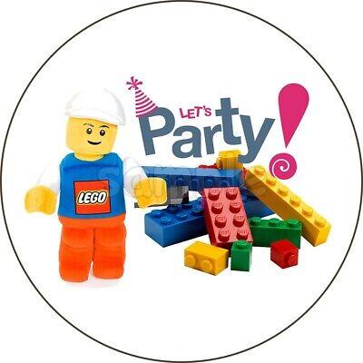 Lego Geburtstag Eßbar Tortendeko Tortenaufleger Party Deko Bausteine neu Bild