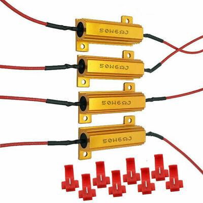 4X LED Indicator Ballast Load Resistor Flash Rate Relay Turn Signal Bulbs 50W 6Ω