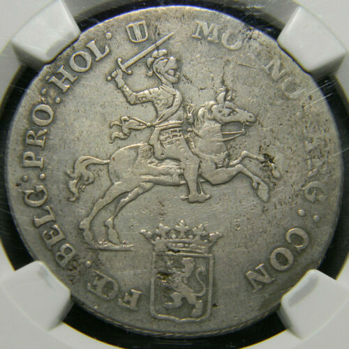 Netherlands 1790 Holland 1/2 Ducaton  NGC VF20