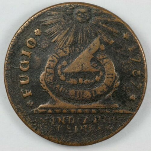 1787 Fugio UNITED STATES Colonial Copper - Newman 21-I Clashed Dies R.4