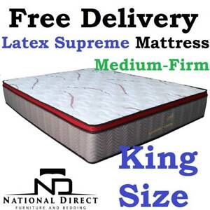 FREE DELIVERY Brand New KING Latex POCKET SPRING Mattress