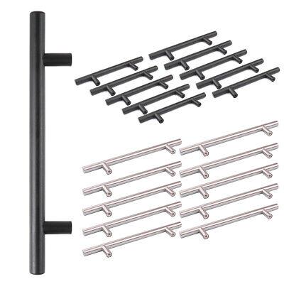 10 Brushed Steel T Bar Handles Home/Kitchen/Cabinet/Door/Cupboard/Drawer/Bedroom