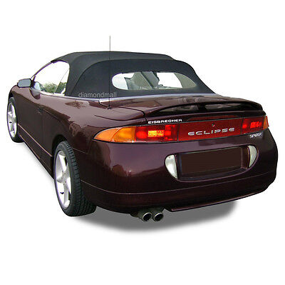 Mitsubishi Eclipse 1995-99 Convertible Soft Top & Heated Glass Black Twill