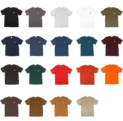 Carhartt   Mens Work Wear Pocket T Shirt  Cotton  Regular  Big  Tall Fit  K87