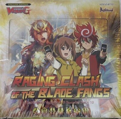 Cardfight Vanguard G Raging Clash of the Blade Fangs Booster Pack 10 NEU OVP