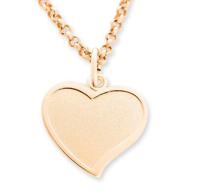 Valentin Kinder (Herz Kette rosé Gold Gravur Namen Geschenk Frau Kinder Weihnachten Valentinstag )