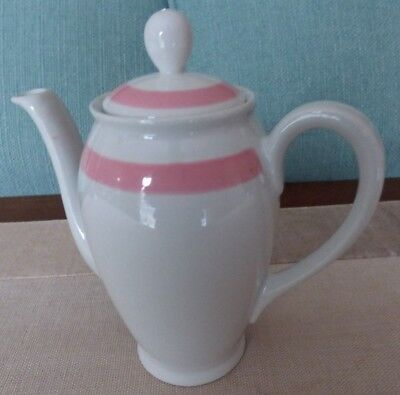 Finland Ribbons - ARABIA Pottery Finland RIBBONS PINK Small Teapot - Chip under lid - 6