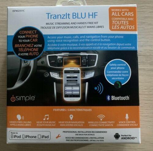 iSimple ISFM2351 TranzIt BLU HF Bluetooth Enabled FM Transmitter