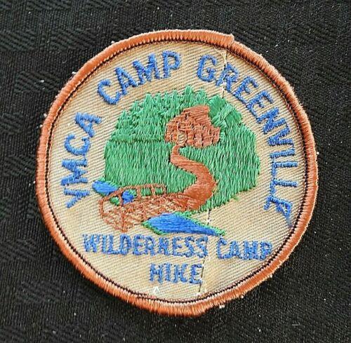 "c.1972 YMCA CAMP GREENVILLE ""WILDERNESS CAMP HIKE"" CLEVELAND SC JACKET PATCH"