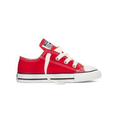 CT As Ox Rot Turnschuhe 7j236 (Rote Converse Kleinkind Schuhe)
