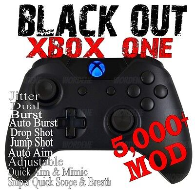 Black Out 5000  Modded Xbox One Controller For All Shooter Games Incl Cod Wwii 2