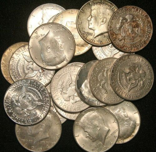 Kennedy Half Dollars 1964 , 90% Silver Coin Lot, Circulated, Choose How Many!