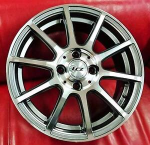 """15"""" Japanese LCZ P-01 Wheels + Continental Tyres Mitcham Whitehorse Area Preview"""