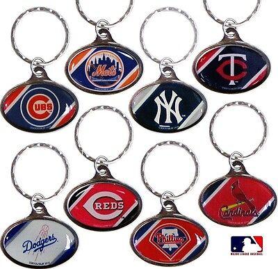 CHOOSE TEAM Key Chain Ring New Official MLB Chrome Dome Key chain Key ring *
