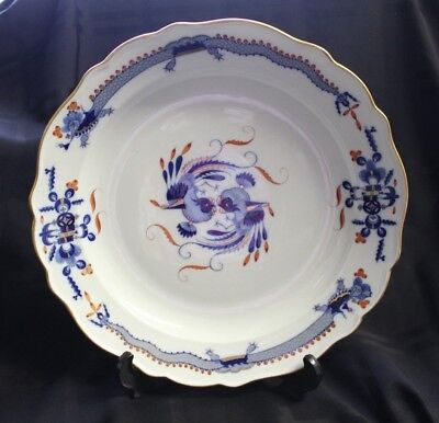 Meissen Dragon & Phoenix Plate Charger Navy Red & Gold