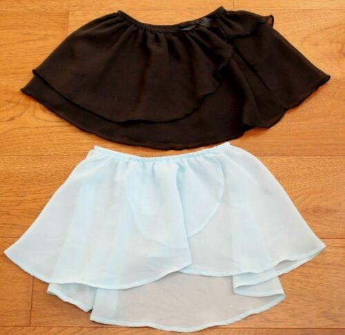 Danskin Bloch BLUE + BLACK BALLET SKIRT sz 4 5 Girls Dance Ballerina Accessories