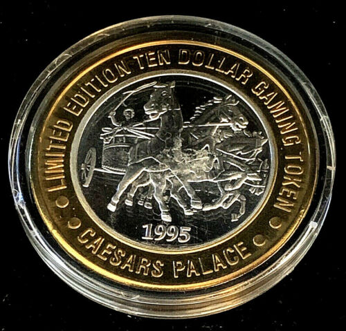 .999 $10 Silver Strike • Caesars Palace • Las Vegas • Chariot • 1995