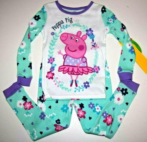 New Peppa Pig girls 3T toddler snug fit pajamas set long sleeve Peppa Pig