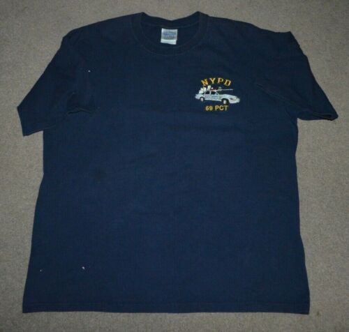 NYPD 69th Precinct Embroidered Shirt NYC NY Police Dept XL Canarsie Brooklyn
