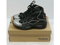 Reebok Question Mid A5 Jadakiss Big Kids Shoes Black//Silver Met//Red bd4332