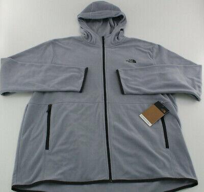 The North Face Mens Fleece Jacket TKA Glacier XXL 2XL Full Zip Hoodie NEW