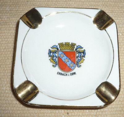 kleiner Aschenbecher Souvenir Erbach im Odenwald, Bavaria Porzellan, Stadtwappen