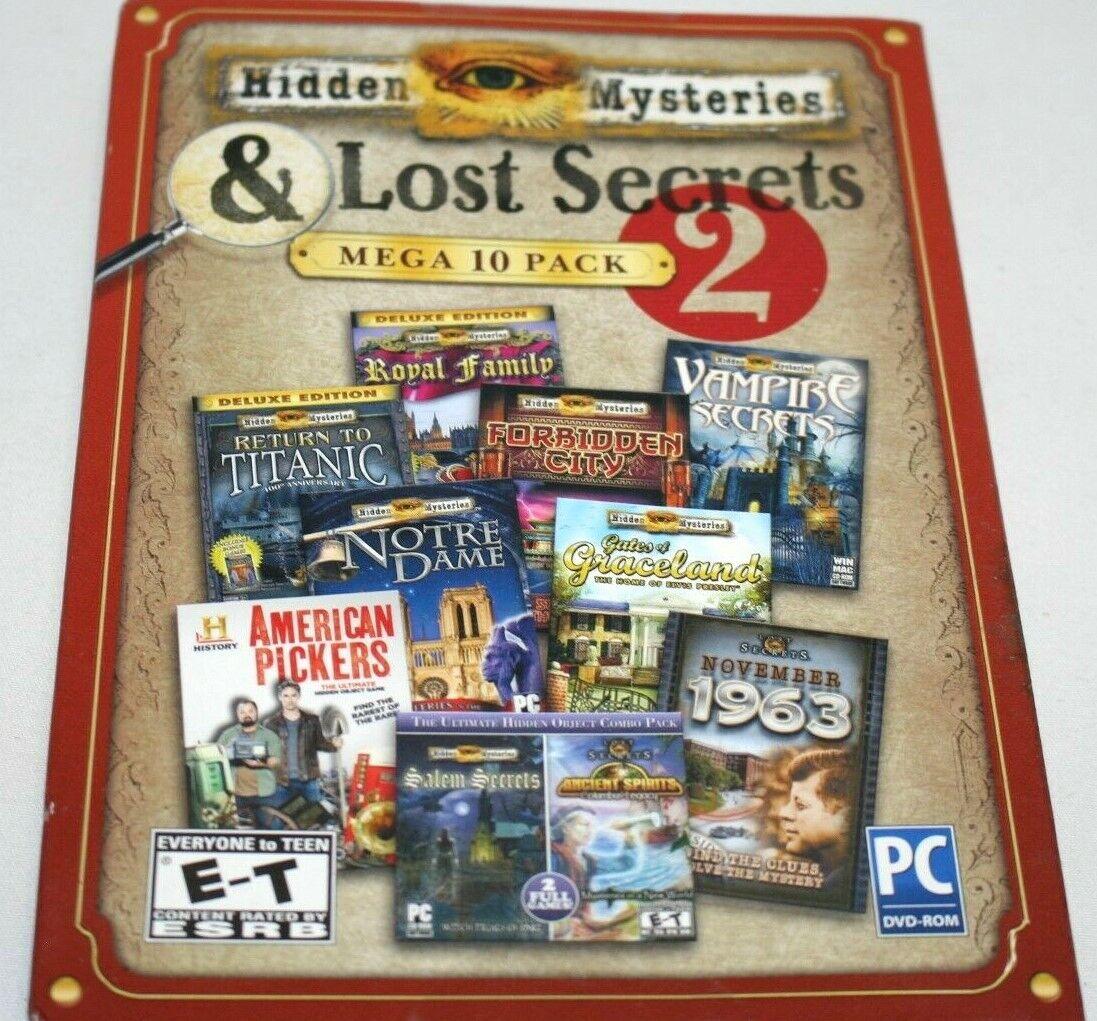 Computer Games - Hidden Mysteries & Lost Secrets Mega Pack PC Games Windows 10 8 7 XP Computer